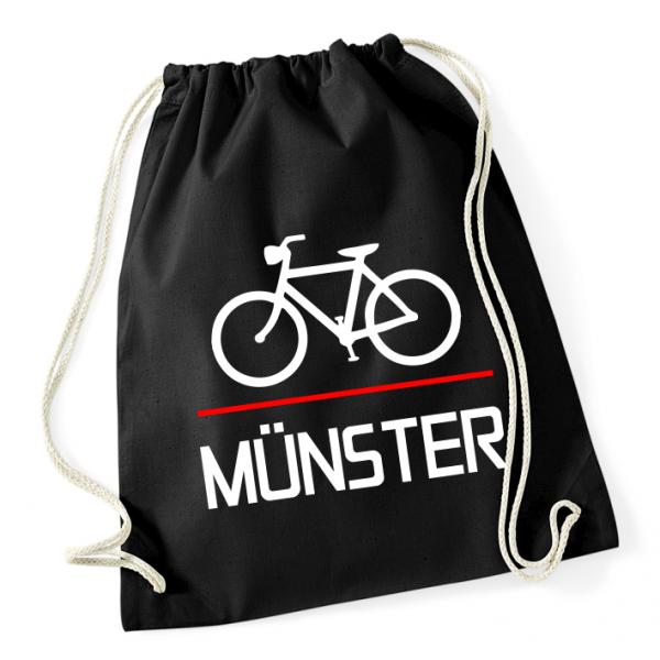 Fahrrad Münster Rucksack Beutel schwarz