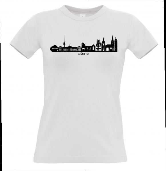 Münster Skyline Damen Shirt weiß