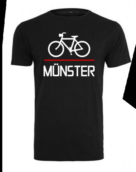 Fahrrad Münster Herren Shirt schwarz
