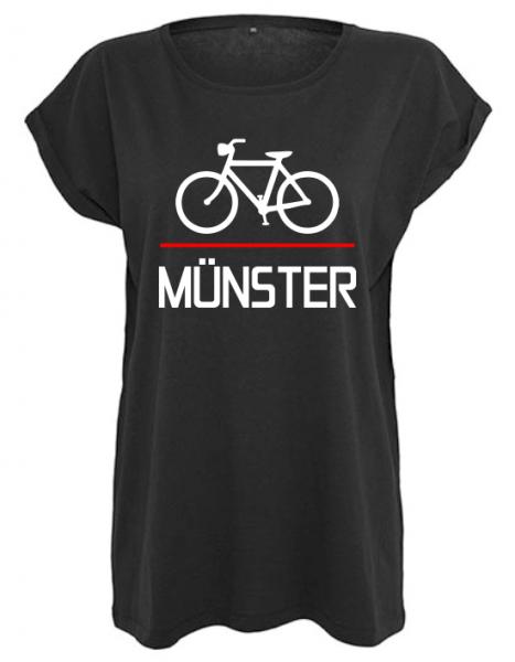 Fahrrad Münster Damen Shirt schwarz