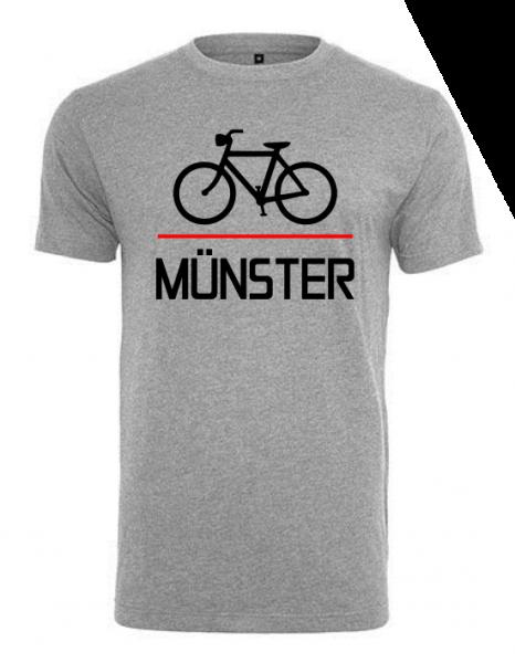 Fahrrad Münster Herren Shirt grau