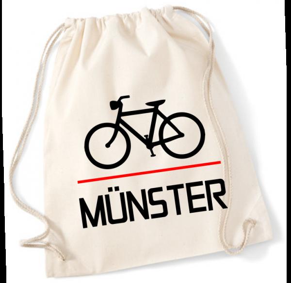Fahrrad Münster Rucksack Beutel natur